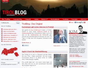 """ein Blog aus Tirol für Tirolerinnen und Tiroler von Markus """"Kim"""" Kirchmair"""