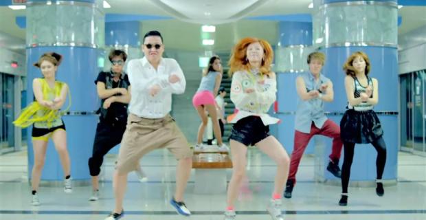 Gangnam Style ist in den Top 3 Videos