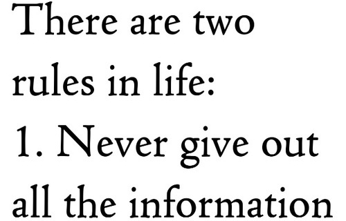 two rules in life